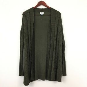 2/$20 Old Navy Green Open Front Long Cardigan